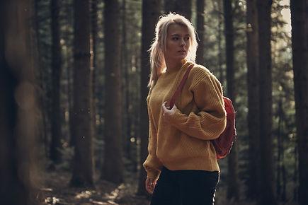 Kadın açık hiking