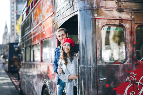 Holiday photoshoot in London