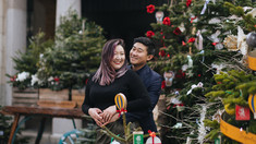 Couple Christmas Photo Shoot