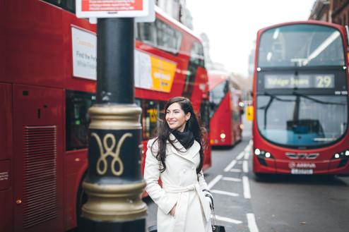 Christmas photoshoot in London