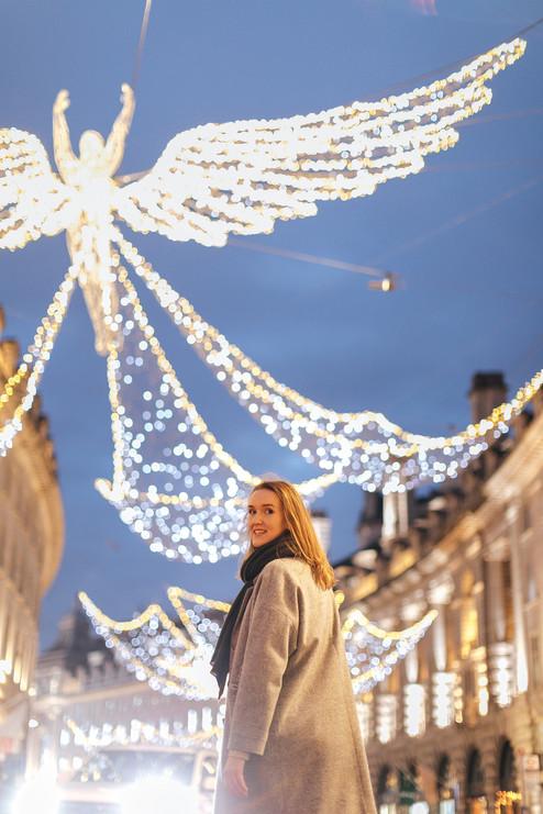 London Christmas photo session
