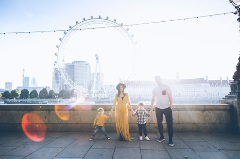 Family photoshoot in Central London