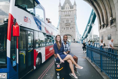 Сouples photoshoot in Westminster & Tower Bridge, London