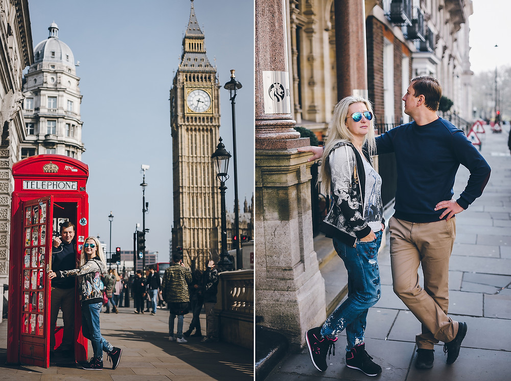 Amazing couple Pavel & Yulia on a walk around London