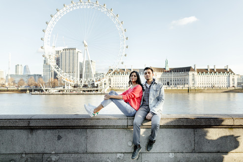 Couples photo session in London