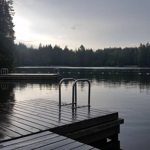 Sunset on Alice Lake