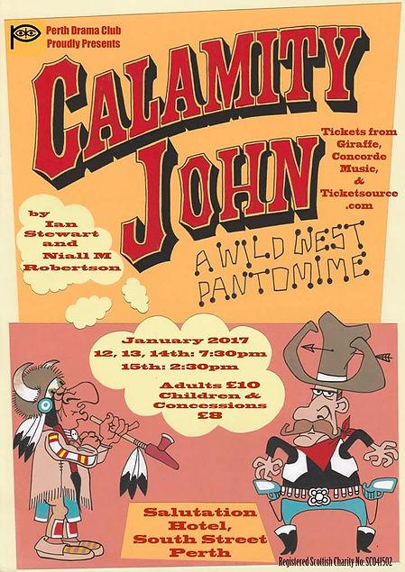 Poster for Pantomime Calamity John