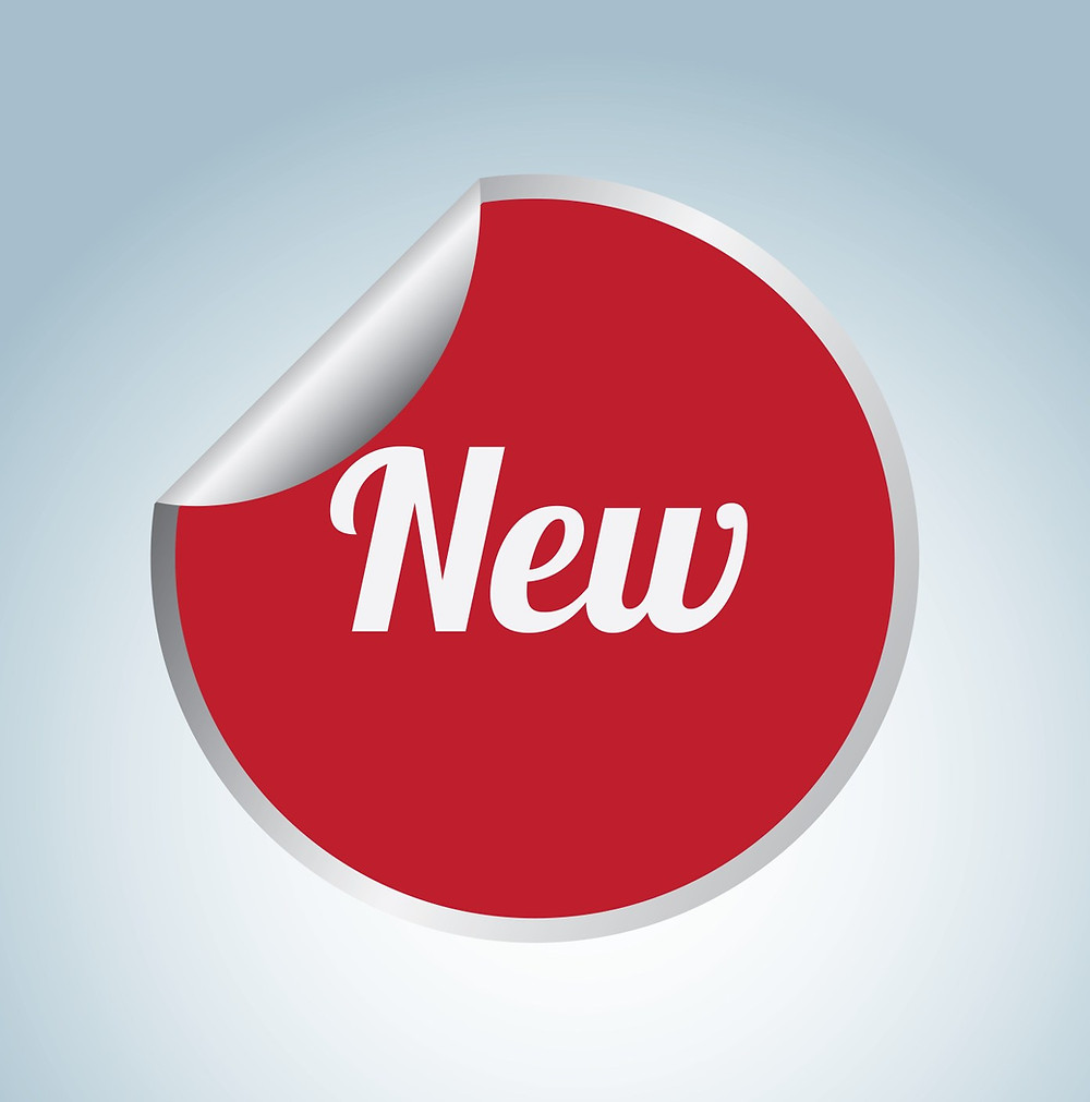 """This is an image of the word """"New"""", wrapped in a red circle. The idea is a """"New"""" product can help create a buzz for your business."""