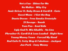 Dirty Dozen Playlist 8.20