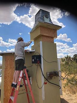 Steve painting upper tower.jpg
