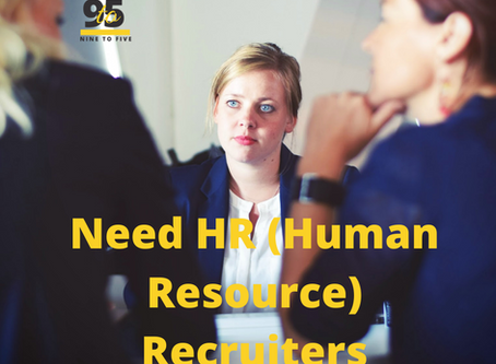 HR Recruiters Executives/Managers required