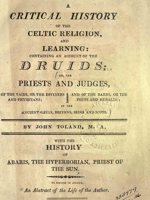 A Critical History of the Celtic Religion