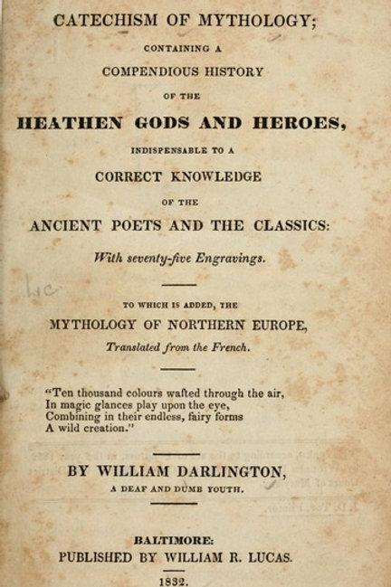 A Catechism of Mythology