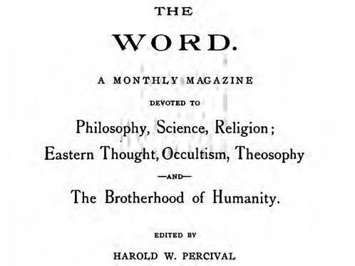 1904-1917 Eastern Religions, Occultism, Thought, Philosophy, Science, Theosophy