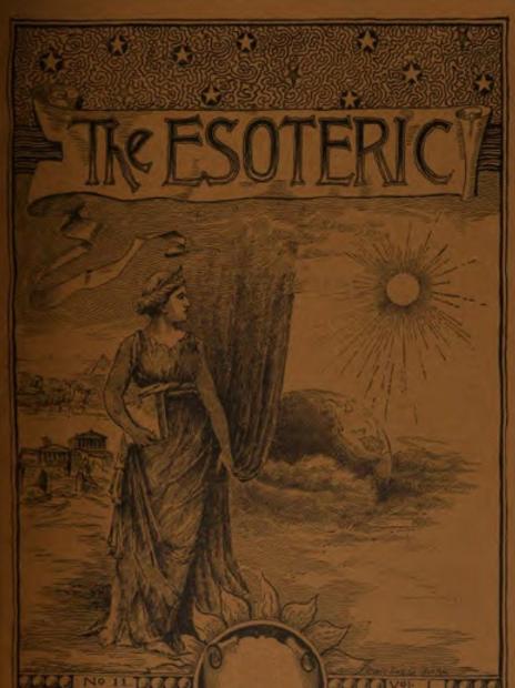 1887-1897 The Esoteric Magazine