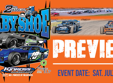 PREVIEW;  'Baby Shoe' featuring 60-lap Modified Feature this Saturday at Kinross