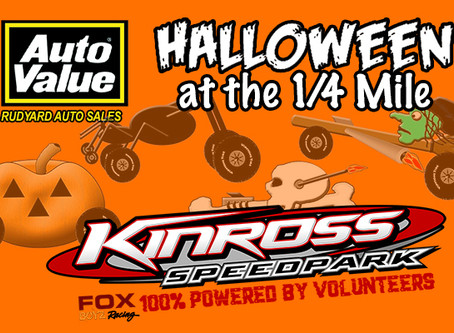 TRICK-OR-TREAT;  Kinross Speedpark hosts 3rd Annual 'Halloween at the 1/4 Mile' this weekend