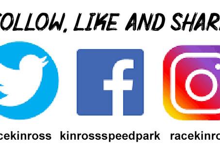 Like, Follow & Share the Speedpark on Social Media