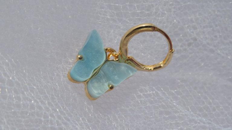 Mint Butterfly earrings