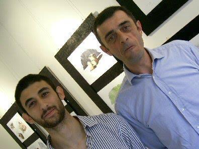 Davide Siddi e il pittore Bruno Comini