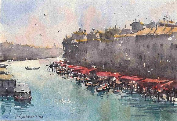 Matteo Bertomoro - Dal ponte di Rialto Sketch