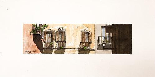 Balconi su via Cavour