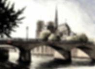Parigi, acquerello Davide Siddi