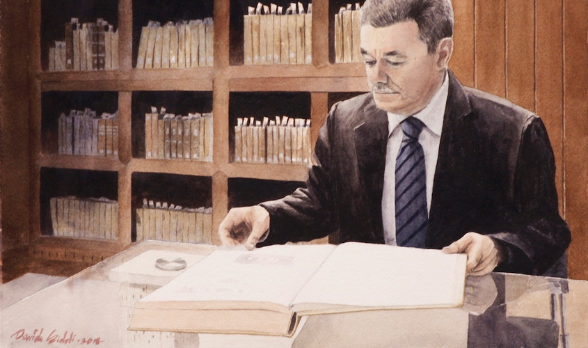 Piero Porru Rettore del Convitto, 40x28 cm, 2018