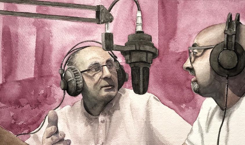 Agostino e Mannoni, Acquerello su carta, 42x21 cm, 2019