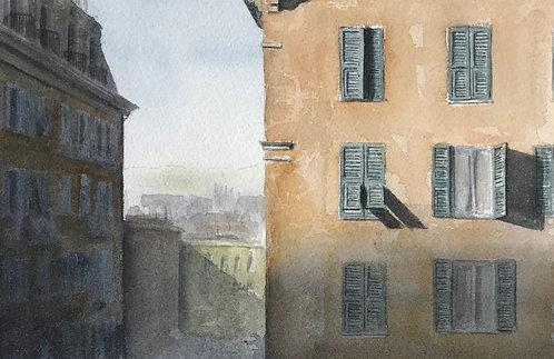 Finestre e ombre su Genova