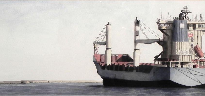 Mercantile algerino, Acquerello su carta, 60x34 cm, 2014