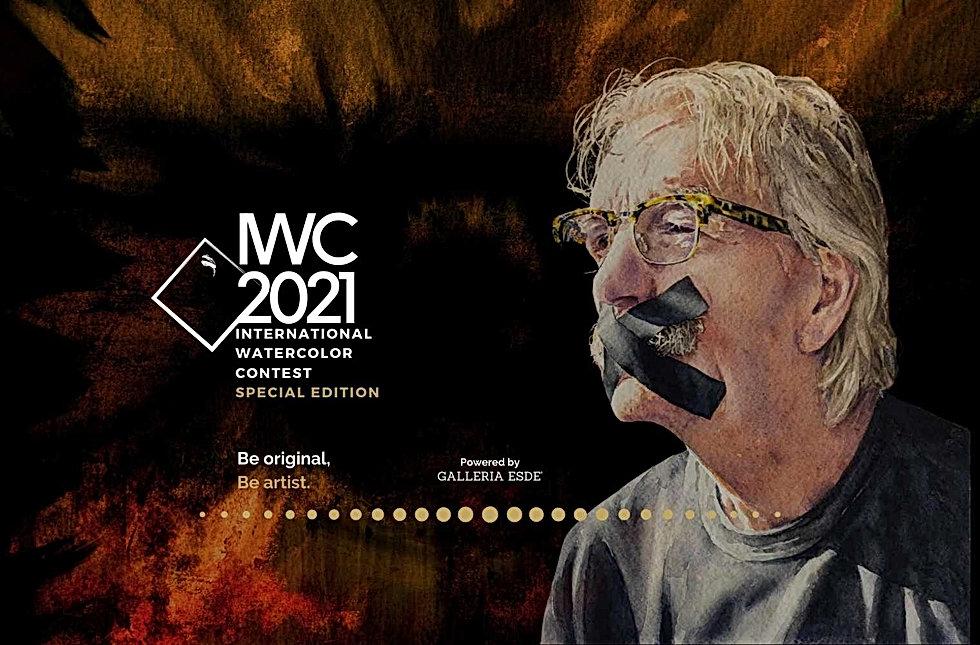 Copertina International Watercolor Contest 2021 Galleria Esdé