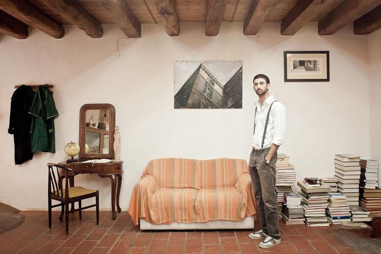 Davide Siddi nella seconda sede dell'Accademia d'Arte di Cagliari