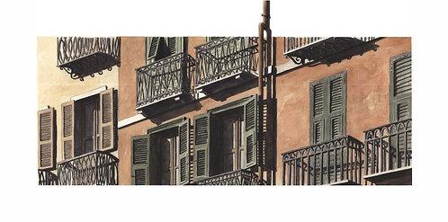 (stampa di) Balconi sul Corso