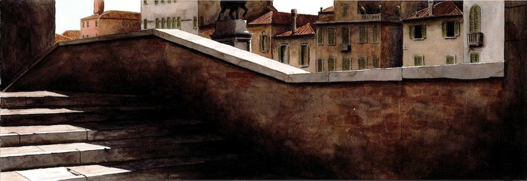 2011. Venezia, il ponte. acquerello. cm