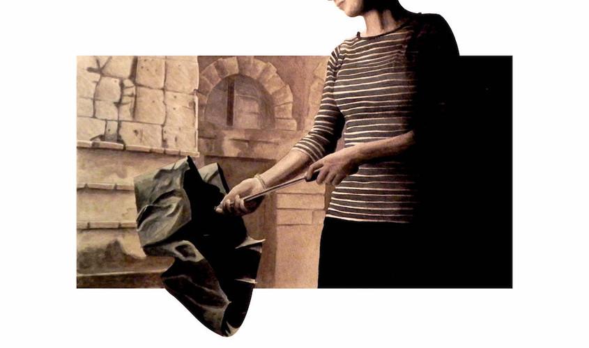 Apres la pluie, Acquerello su carta, 38x40 cm, 2012