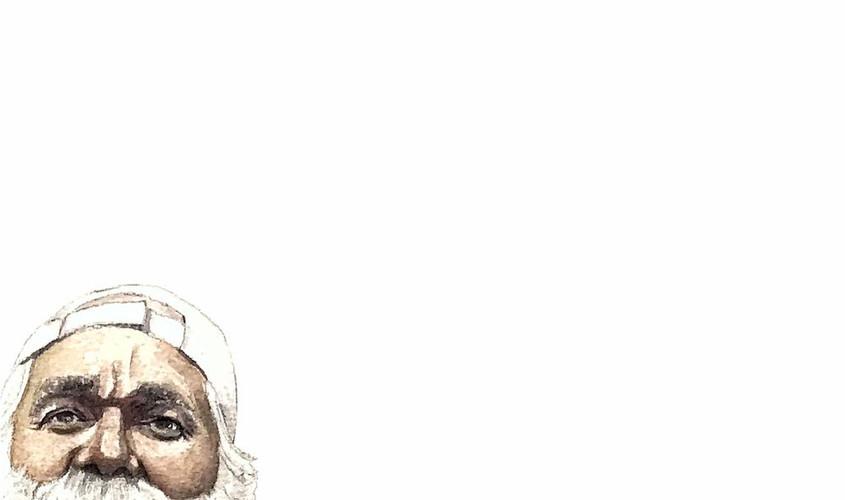 Pasqualino detto il Che, Acquerello su carta, 21x42, 2019