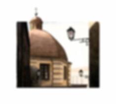 Traversa di via Manno chiesa acquerello Davide Siddi
