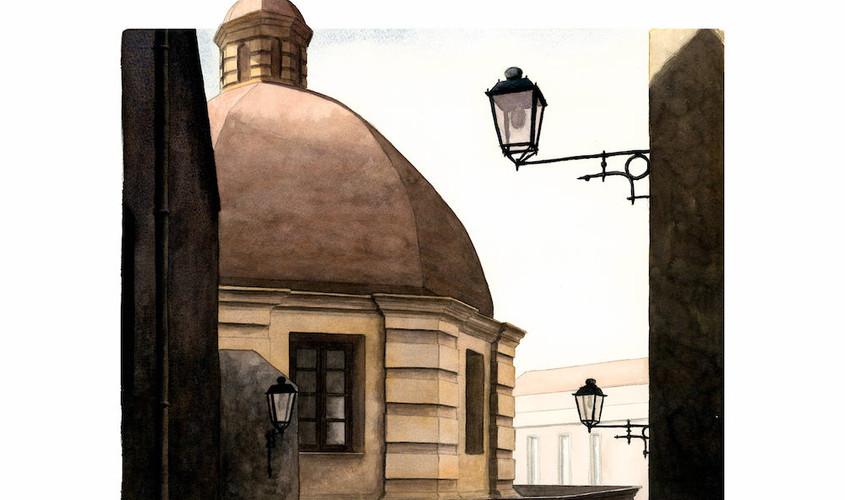 Traversa di via Manno, Acquerello su carta, 40x32 cm, 2012