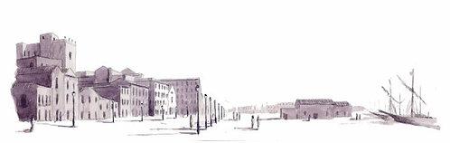 (stampa di) Via Roma nel XIX secolo