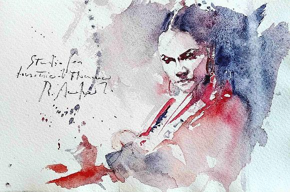 Roberto Andreoli - Studio di danzatrice di Flamenco