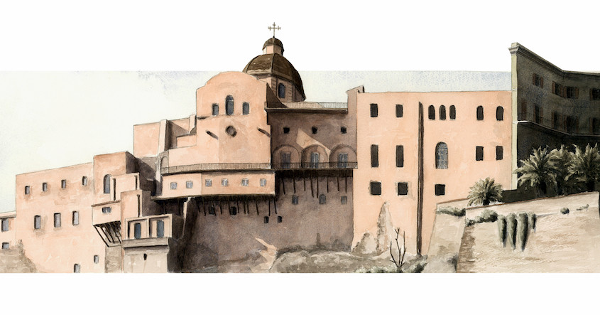 Castello dal Terrapieno, Acquerello su carta, cm 60x25, 2012