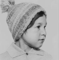Bambino in grafite carboncino Luca Tedde