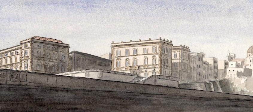 Ombre tra il Bastione e la Cattedrale, 40x15 cm, 2009