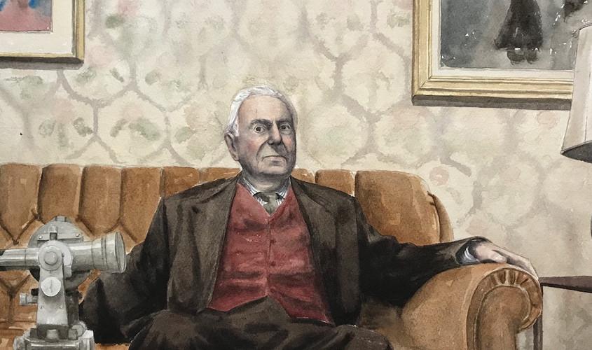 Sebastiano, Acquerello su carta, 40x29,5 cm, 2019