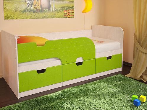 Детская кровать Минима 80х186 Лайм