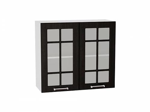 Шкаф верхний с 2-мя дверцами стекло 800 (920)