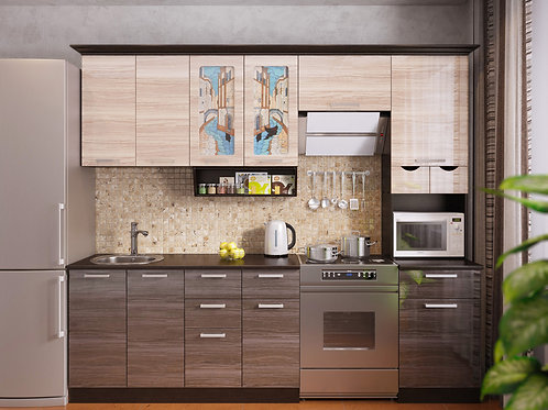 Кухня Венеция 4 верх:2500x1340х330 низ:2500x860x600