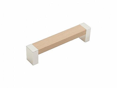 Ручка скоба мебельная С-18 Клен/хром  96/128