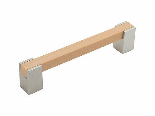 Ручка скоба мебельная С-20 Светлый венге (43)/Металлик 128